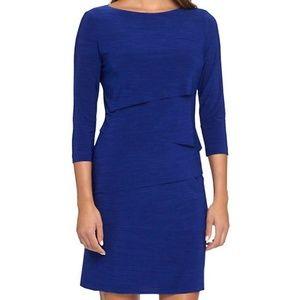 Tahari by ASL Cobalt Blue Tiered Sheath Dress 14